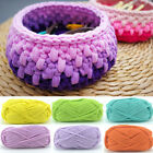 DIY Crochet Cloth Carpets Yarn Cotton Wool hand-knitted Thick Knit Blanket Calm