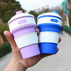350ML Silicone Retractable Folding Coffee Cup Telescopic Collapsible Travel SKY