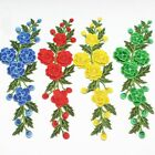 2PCS Embroidered 3D Layered Rose Flower Sewing Patch Trim Appliques Craft WT117