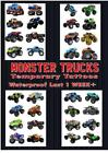 MONSTER TRUCKS big truck cars jam temporary tattoos waterproof last 1 WEEK+