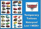 CARS Lightening McQueen & Friends temporary tattoos waterproof last 1 WEEK+