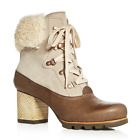 $350 SOREL WOMENS 9.5 JAYNE LUX LEATHER SHERLING BOOTIES BOOTS ANTRHROPOLOGIE