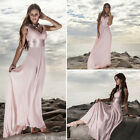 Ever-Pretty Long Pink Chiffon Bridesmaid Gown Evening Formal Party Dresses 09672