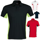 KARIBAN CONTRAST COLOURS MENS PIQUE SPORTS POLO SHIRT S-2XL KB232