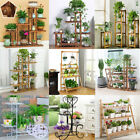 Metal Wooden Outdoor Indoor Pot Plant Stand Tierd Step Flower Rack Garden Yard