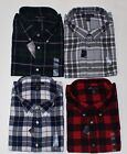 New Famous Maker Long Sleeve Plaid Cotton Flannel Shirts Half Price