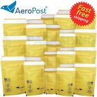 GOLD MAILING PADDED BUBBLE ENVELOPES / MAILERS AP1-100 x 165MM BAGS POSTAL WRAP