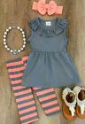 baby boutiques in shreveport la - Boutique Kids Baby Girls Striped Tops Dress Pants Leggings Outfits Clothes USA