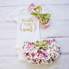 Baby - US Newborn Baby Girl Floral Romper + Tutu Shorts Pants Outfits C