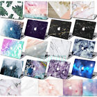 "Rubber Coated Laptop Marble Hard Case +Key Cover For Macbook Air Pro 11""12""13""15"