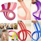 10 Colors/Set Clip On In Hair Extensions Multi Color Highlig