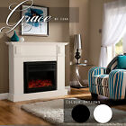New 1600W Electric Fireplace Mantel Realistic Flame Effect w/Overheat Protection