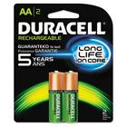 Duracell NLAA2BCD Rechargeable Nimh Batteries With Duralock Power Preserve