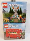 LEGO Creator 40220 Double Decker London Bus & 40221 Park Fountain NEW Sealed Box