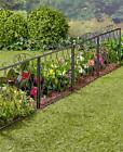 OVER 7' BLACK OR WHITE SCROLLED METAL GARDEN FLOWERBED CORNER FENCE HOME DECOR