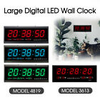 Digital Large Big Jumbo Led Wall Desk Clock With Calendar Temperature 3 Color