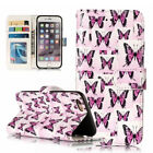 Relief Butterfly Party Photo frame Card slot stand wallet PU Leather Phone case