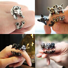 Animal Vintage Retro Dog Wrap Around Open Ring Pug French Bulldog Daschund Puppy