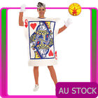 Womens Alice Queen Of Hearts Poker Playing Card Fancy Ladies Costume Wonderland