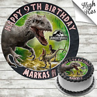 JURASSIC PARK (INDOMINUS REX) BIRTHDAY CAKE TOPPER DECORATION PERSONALISED