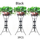 3 PACK Metal Flower Pot Rack 31'' High Vintage Plant Stand in Balcony Garden USA