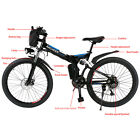 26'' ANCHEER Fat Tire Foldable Mountain EBike Electric Bicycle W/ Li-ion Battery