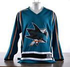 Licensed Official NHL Jersey Mens Hockey Sweater San Jose Sharks Teal Unnamed $39.00 USD on eBay