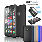 360° Full Body Protective Phone Case +Tempered Glass Screen Protector Hard Cover