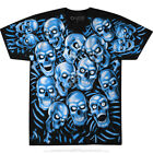 JUICY J STAY FLY-SKULL PILE-GLOW N DARK-Blue 2 Sd TSHIRT S-M-L-XL-2X SCOT