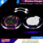 QI WIRELESS CHARGER CHARGING FOR iPHONE X 8 SAMSUNG GALAXY S8 S9+ EDGE S6 NOTE 8