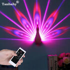 DC5V Novelty Animal Peafowl Led Color Changing Remote Control Wall Night Light