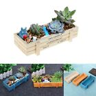 Flower Plant Wooden Box Garden Planter Pot Succulent Herb Trough Basket Storage