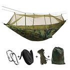 Outdoor colorful hammock Outdoor camping canvas hammock With mosquito nets New
