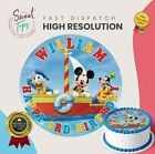 DONALD DUCK, MICKEY MOUSE, GOOFY BIRTHDAY CAKE TOPPER DECORATION PERSONALISED