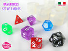 Clear silicone resin dice mold crafts game gamer di mold