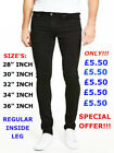 MEN'S SKINNY SLIM FIT TRENDY DENIM STRETCH JEANS BLACK NEW SUMMER 2018 DESIGN