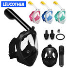 Full Face Snorkel Diving Mask Scuba Goggles Natural Breathing Anti-Fog Gopro Kid