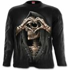 SPIRAL DIRECT DARK LOVE LONG SLEEVE T-Shirt/Tattoo/Skull/Rock/Metal/Reaper/Top
