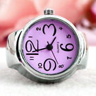 Creative Fashion Steel Round Elastic Quartz Finger Ring Watch Lady Girl GiftRing Watches - 173698