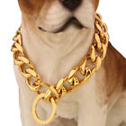 13mm Silver Gold Chain Dog Necklace Pet Collar Curb Link 316L Stainless Steel
