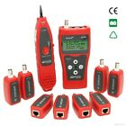 English Network cable tester Cable tracker RJ45 RJ11 BNC lan tester LCD display