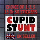 cUPID STunt Funny Joke Prank Sticker For Laptop iPhone Tablet 1,2,5,15 or 30 PCs