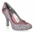 NEW Ruby Shoo Miley Court Shoe Round Toe Grey Pink / Cream UK3-8 EU36-41 Bridal