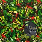 GREEN DINOSAURS HYDROGRAPHIC WATER TRANSFER HYDRO FILM DIP APE