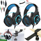 ps3 headset mic - 2x3.5mm Gaming Headset Mic LED Headphones Stereo for PS3 PS4 Xbox ONE 360+Holder