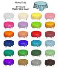 """Round 84"""" Plastic Table Cover Birthday Wedding Party Supplies Tablecloth"""