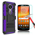 For Motorola Moto E5 Plus/Supra Armor Case With Kickstand Clip+Screen Protector