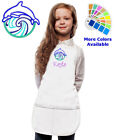 childrens personalised aprons - Personalized Kids Apron with Dolphin Ocean Waves Embroidery Design