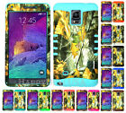 For Samsung Galaxy Note 4 - KoolKase Hybrid Silicone Cover Case CAMO MOSSY 04