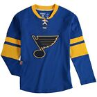 St Louis Blues CCM Long Sleeve Jersey Crewneck Shirt
